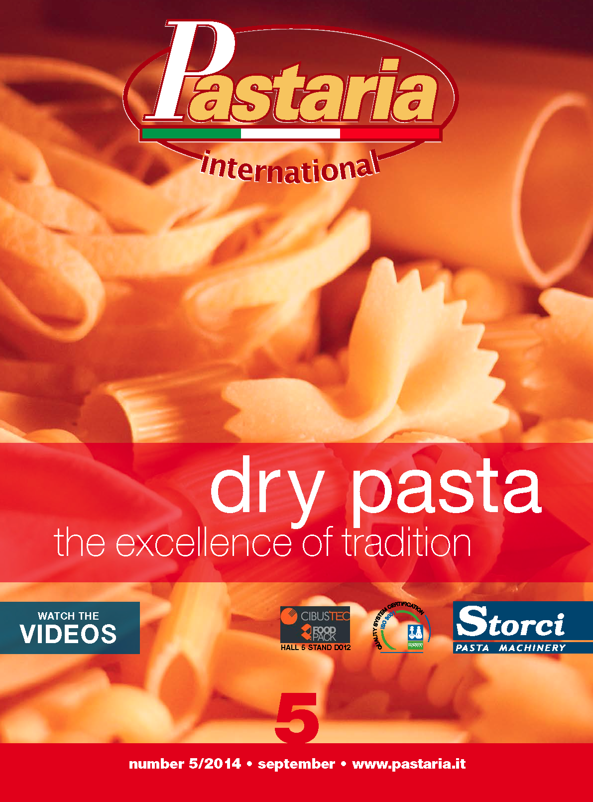 La copertina di Pastaria International 5/2014