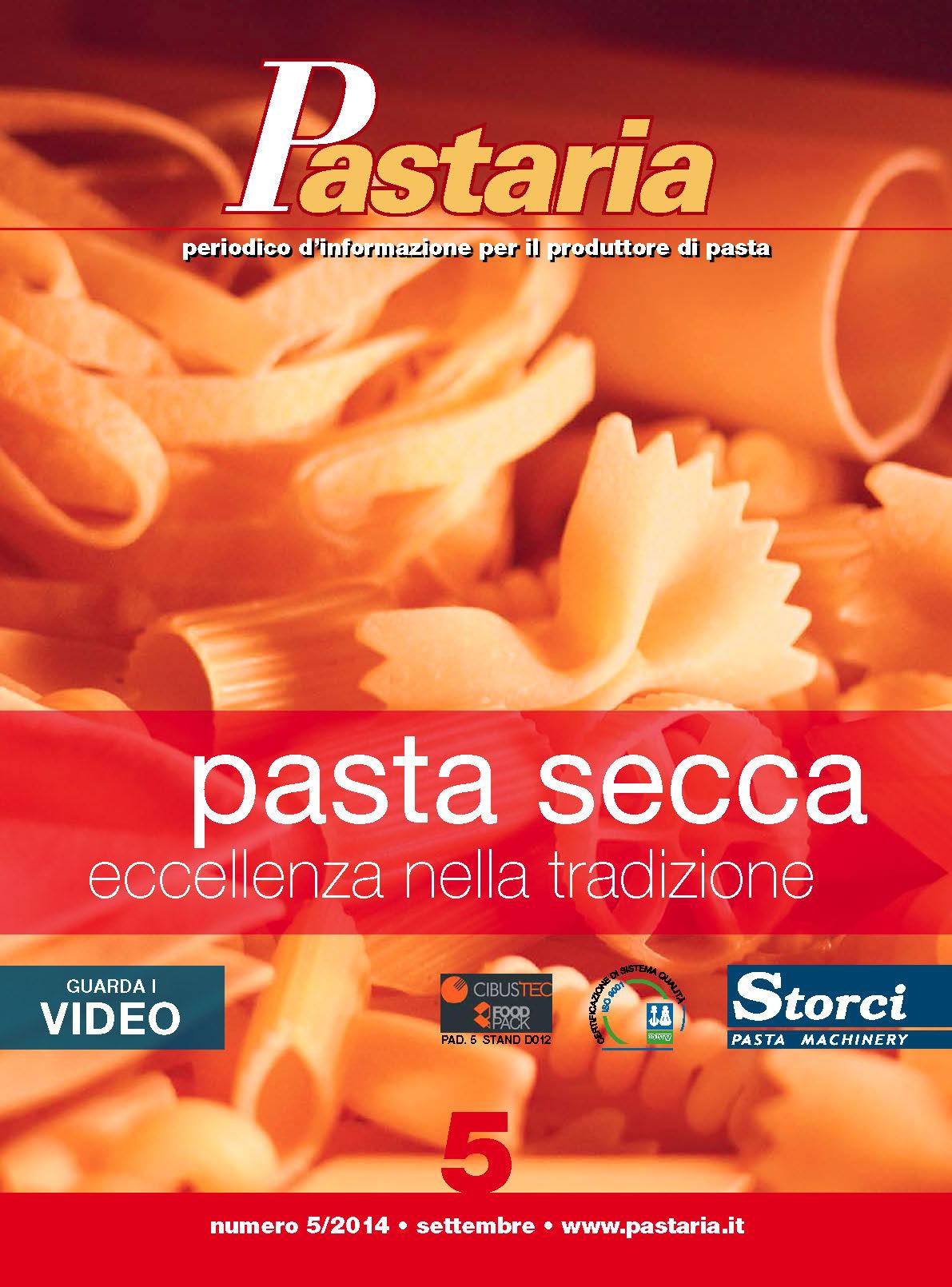 La copertina di Pastaria 5/2014