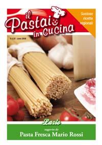 La copertina del ricettario del Lazio de Il pastaio in cucina, collana di ricettari per produttori di pasta