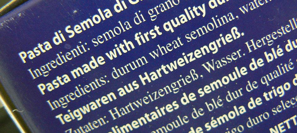 Termine minimo di conservazione: via dalle etichette di pasta secca?