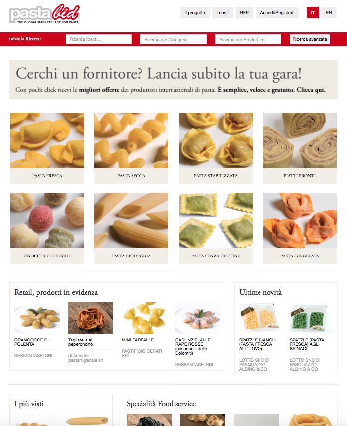 Nasce Pastabid, un nuovo modo di vendere la pasta