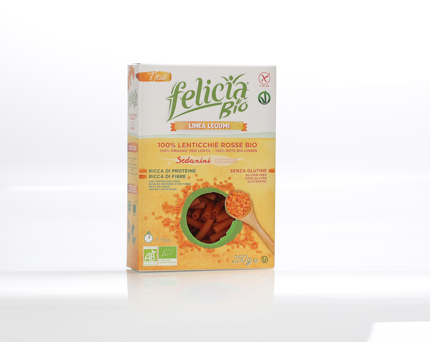 I legumi cambiano forma: la nuova linea di pasta Felicia Bio