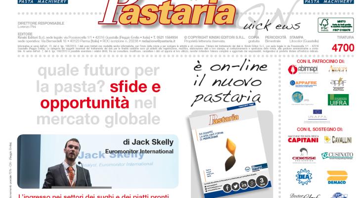 È in distribuzione Pastaria Quick News 3/2016