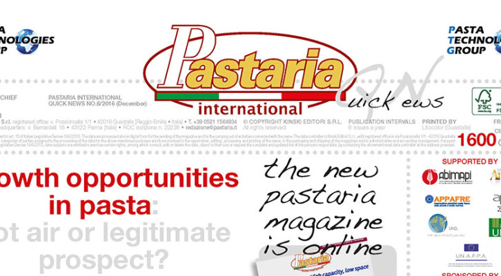 Pastaria International Quick News 6/2016 is currently being distributed