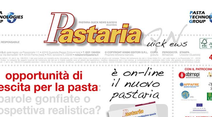 È in distribuzione Pastaria Quick News 6/2016