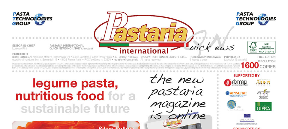 È in distribuzione Pastaria Quick News 1/2017