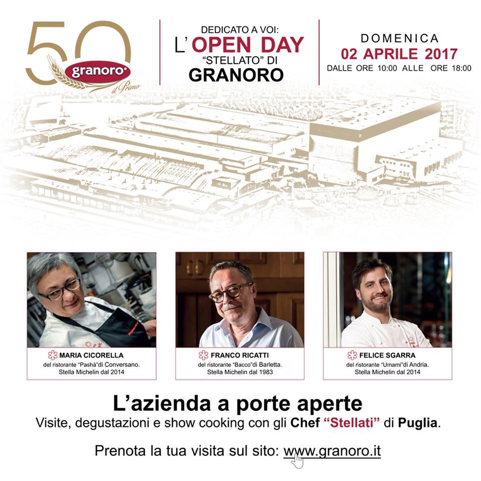 """""""DEDICATO A VOI"""", DOMENICA 2 APRILE  L'OPEN DAY """"STELLATO"""" DI GRANORO"""