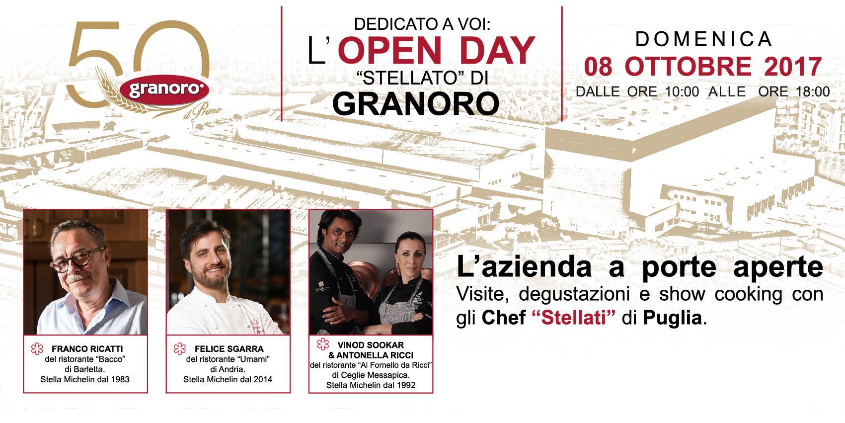 """RITORNA """"DEDICATO A VOI: L'OPEN DAY «STELLATO» DI GRANORO"""""""