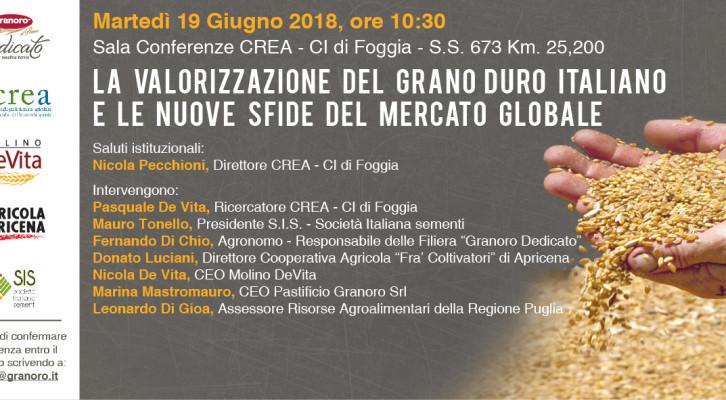 IL FUTURO DEL GRANO ITALIANO E LE NUOVE SFIDE: A FOGGIA GRANORO PROMUOVE UNA TAVOLA ROTONDA