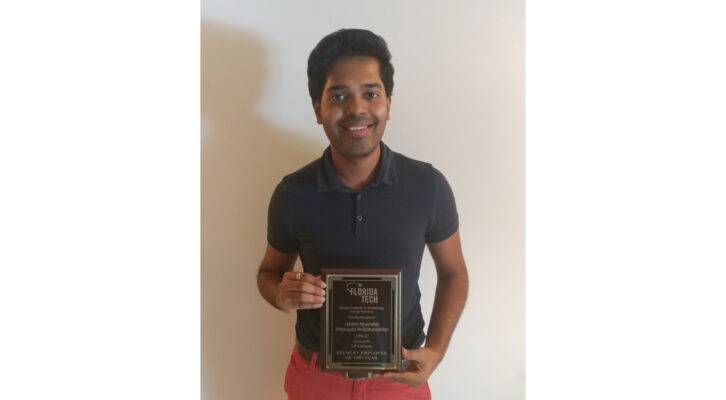 Student Engineer at DEMACO was named Florida Tech Student Employee of the Year
