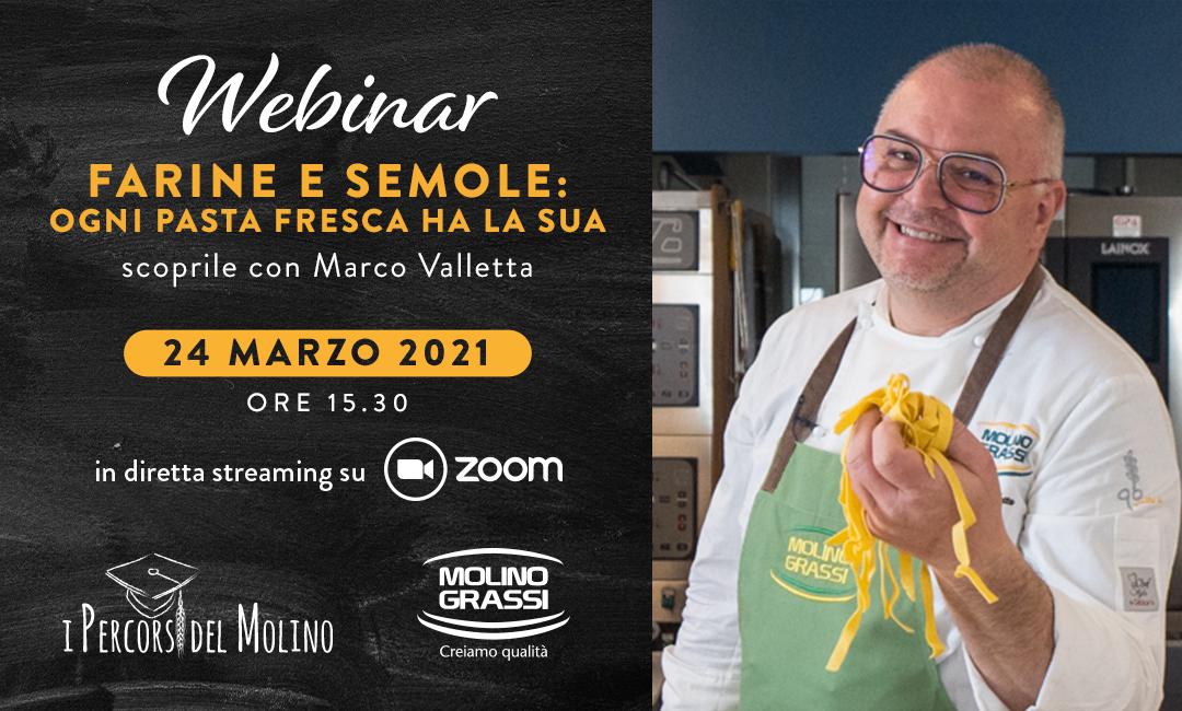 Webinar Molino Grassi – Farine e Semole: ogni pasta fresca ha la sua