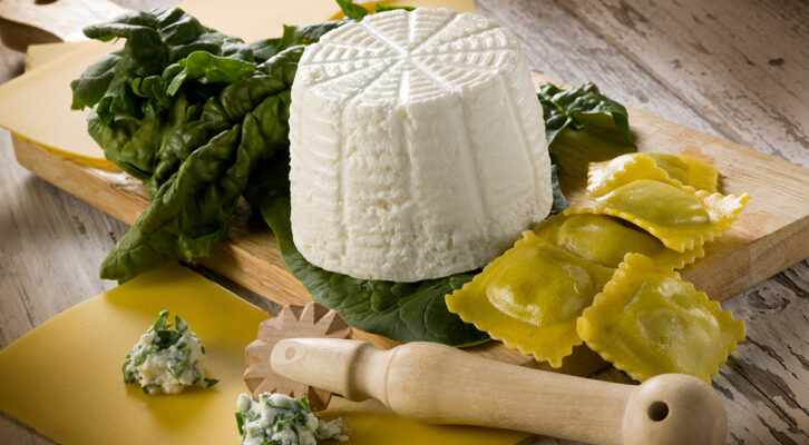 La Cucina dei Sapori, an ally in the preparation of stuffed pasta, proposes the semi-finished product ricotta and spinach